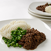 Savoury mince with vegetables frozen meal