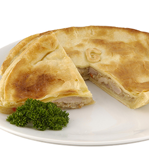 Family chicken and vegetable pie