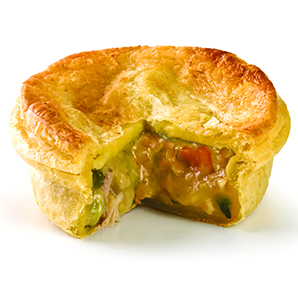 Classic Chicken & Vegetable single pie