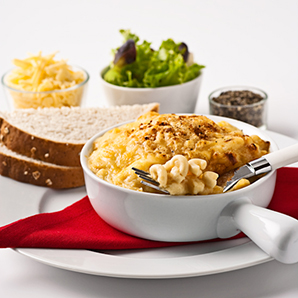 Macaroni cheese frozen meal