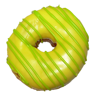 plain ring donut with green icing