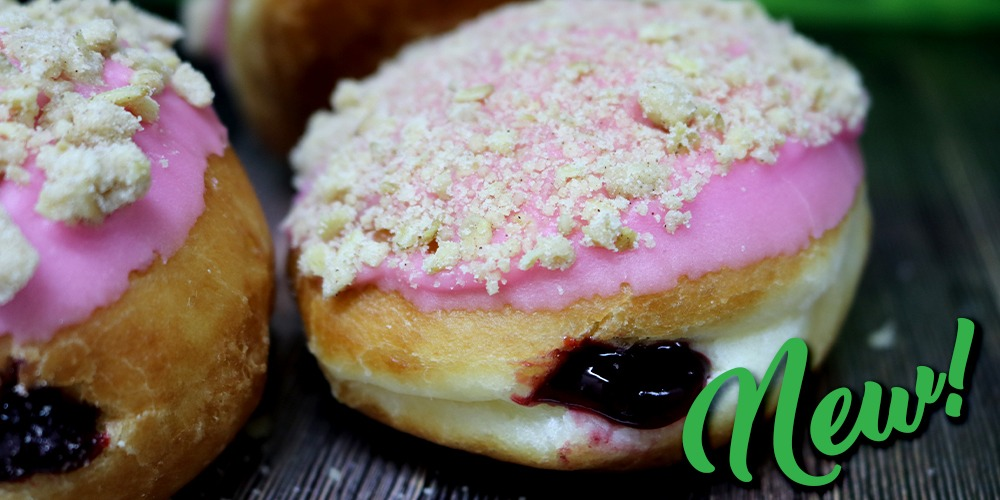 Blackberry and Apple Crumble Donut