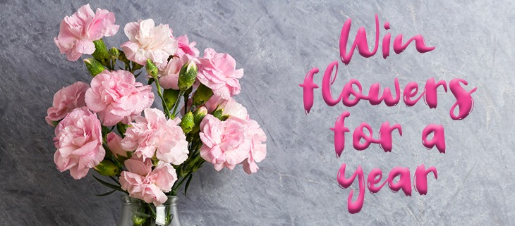 Win Flowers For A Year