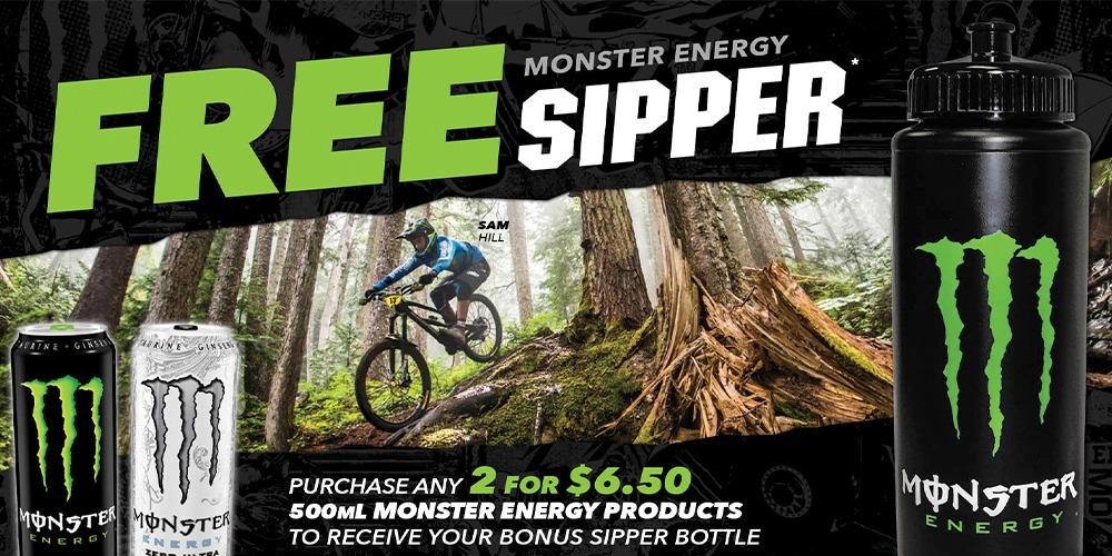 Monster Energy Sipper Bottle Promotion Banner
