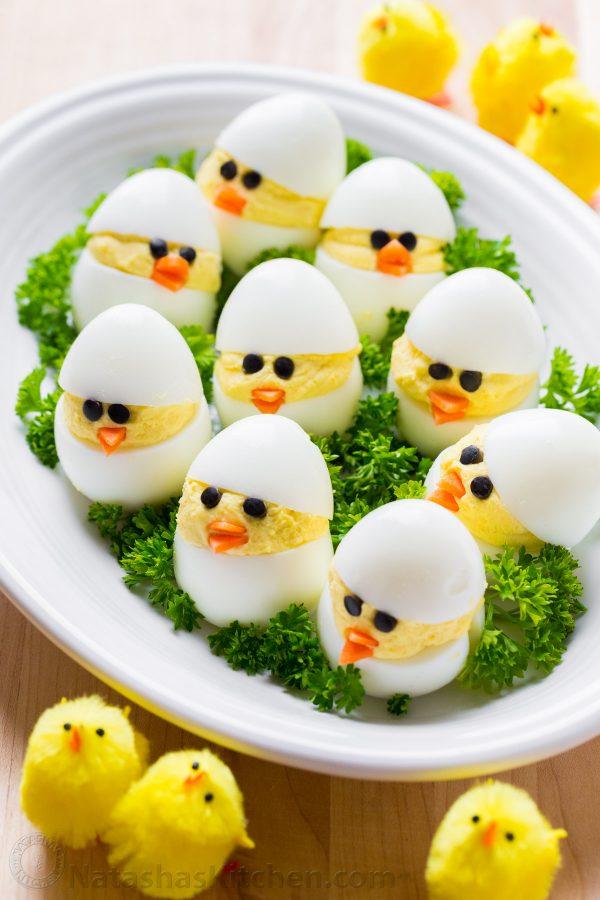 Easter Recipe: Deviled Egg Chicks!