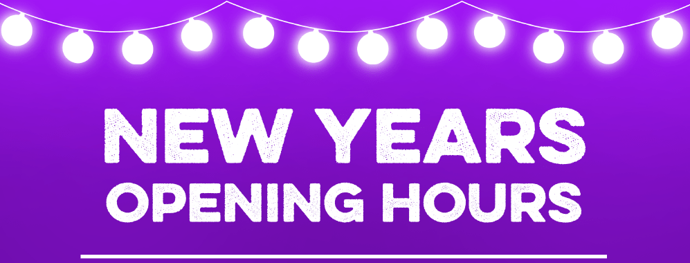 New Years Opening Hours 2020/2021